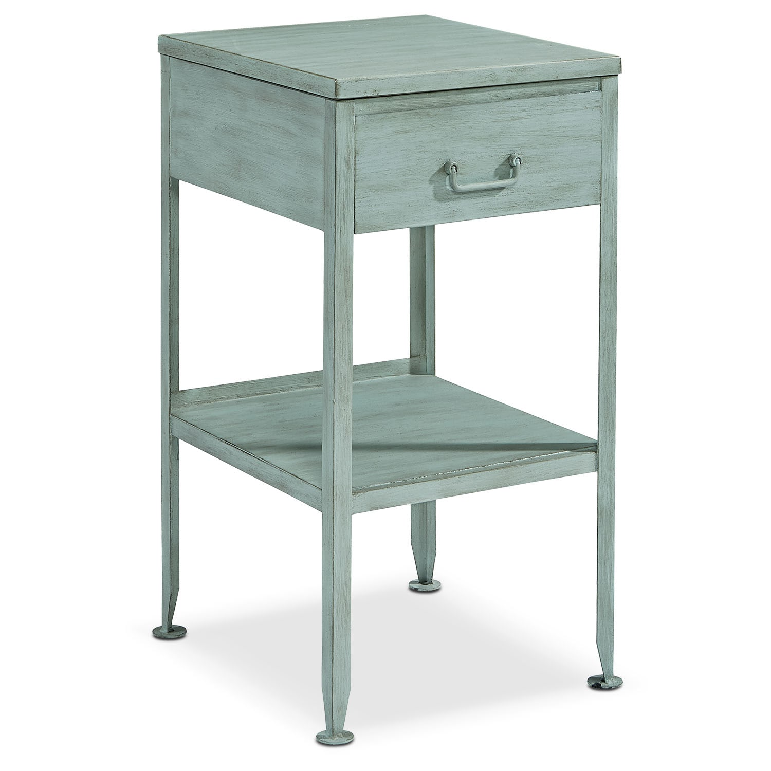 Metal Utility Side Table - French Blue