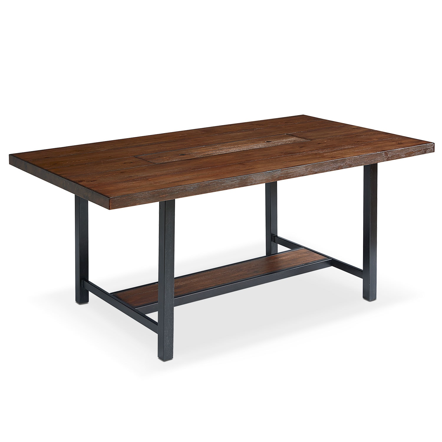 "Industrial Framework 84"" Dining Table - Milk Crate"