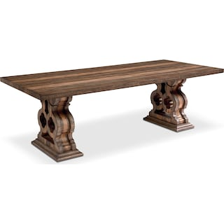 Double Pedestal Dining Table - Shop Floor