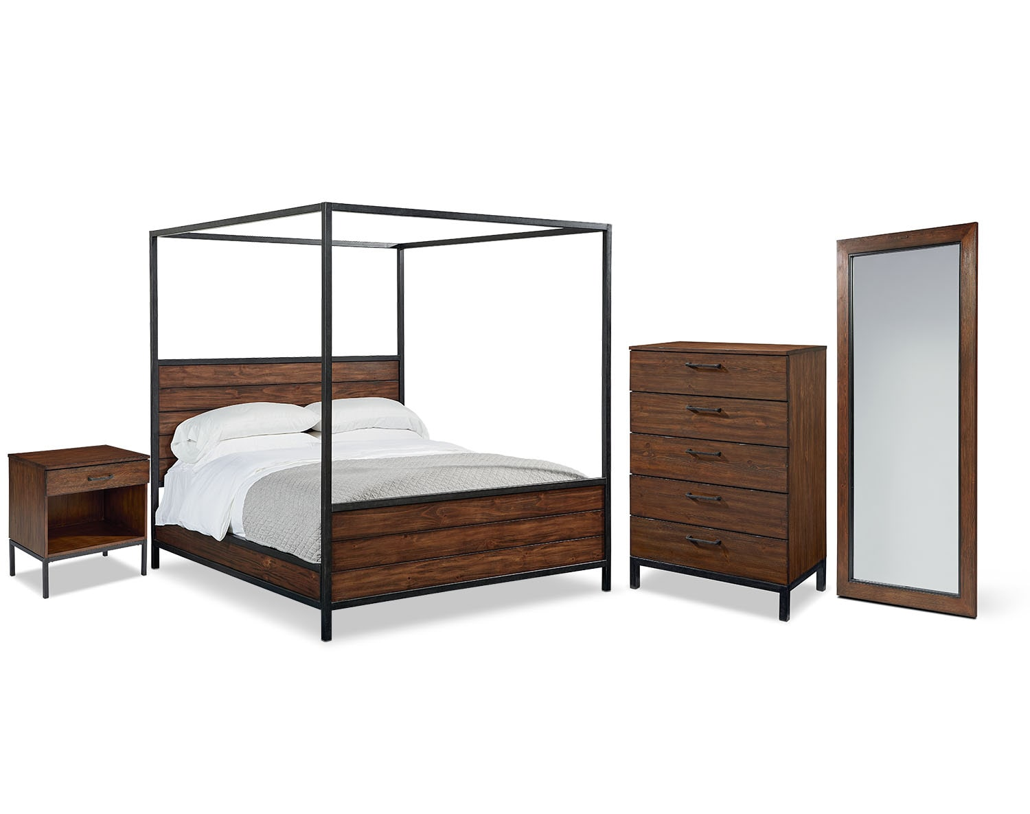 The Industrial Framework Canopy Bedroom Collection