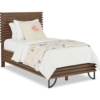 Twin Stacked Slat Bed