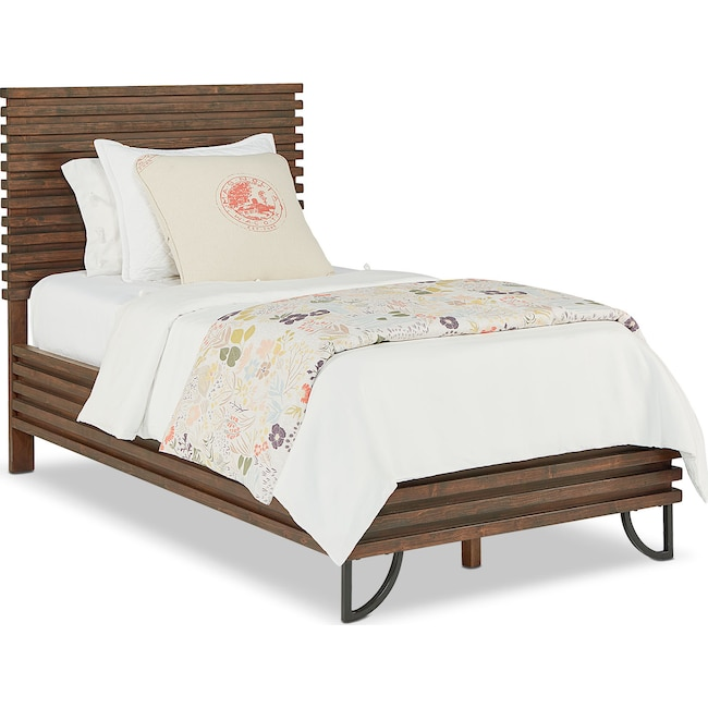 Bedroom Furniture - Twin Stacked Slat Bed