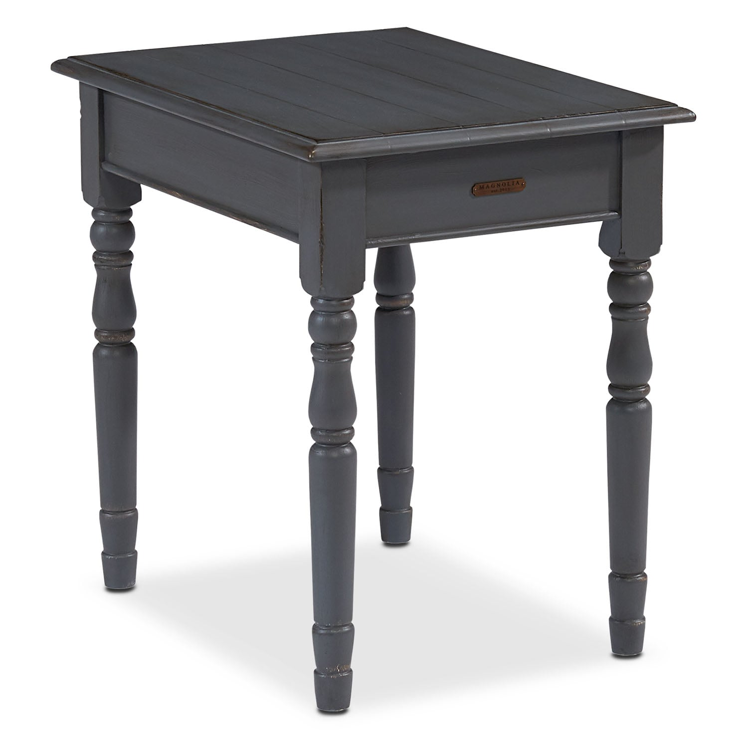Taper Turned End Table - French Grey