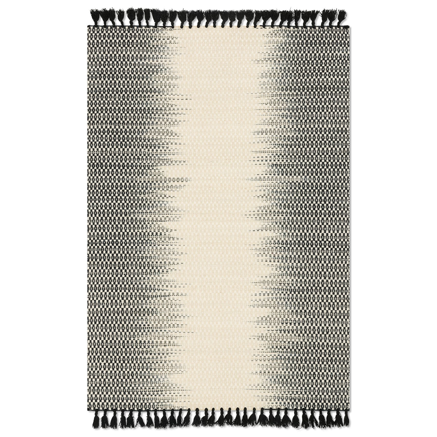 Rugs - Chantilly 5' x 8' Rug - Ivory and Black