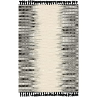 Chantilly 5' x 8' Rug - Ivory and Black