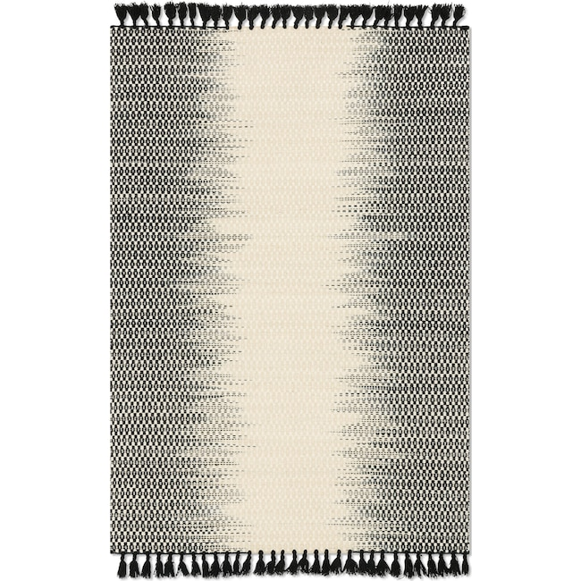 Rugs - Chantilly 4' x 6' Rug - Ivory and Black