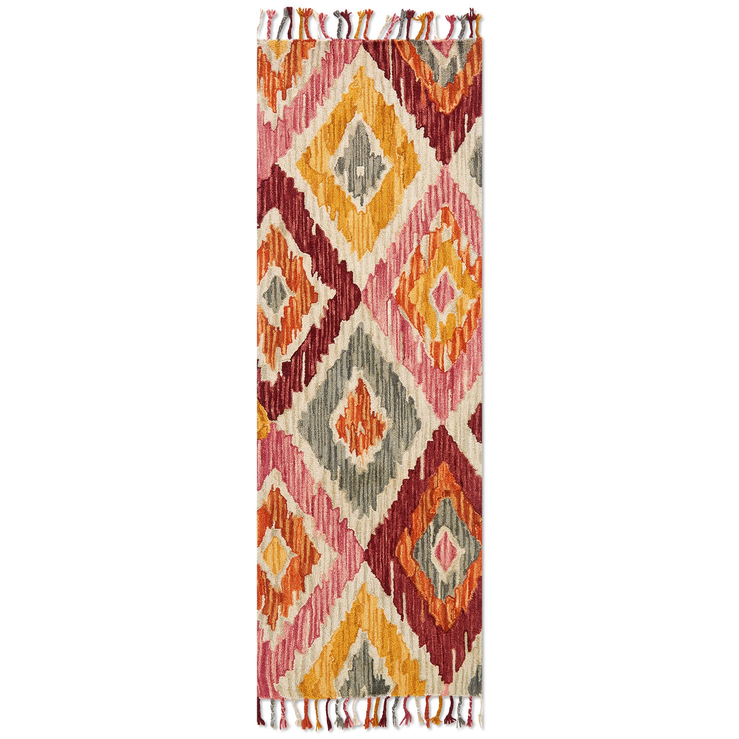 Brushstroke 3' x 8' Rug - Silver Sunset