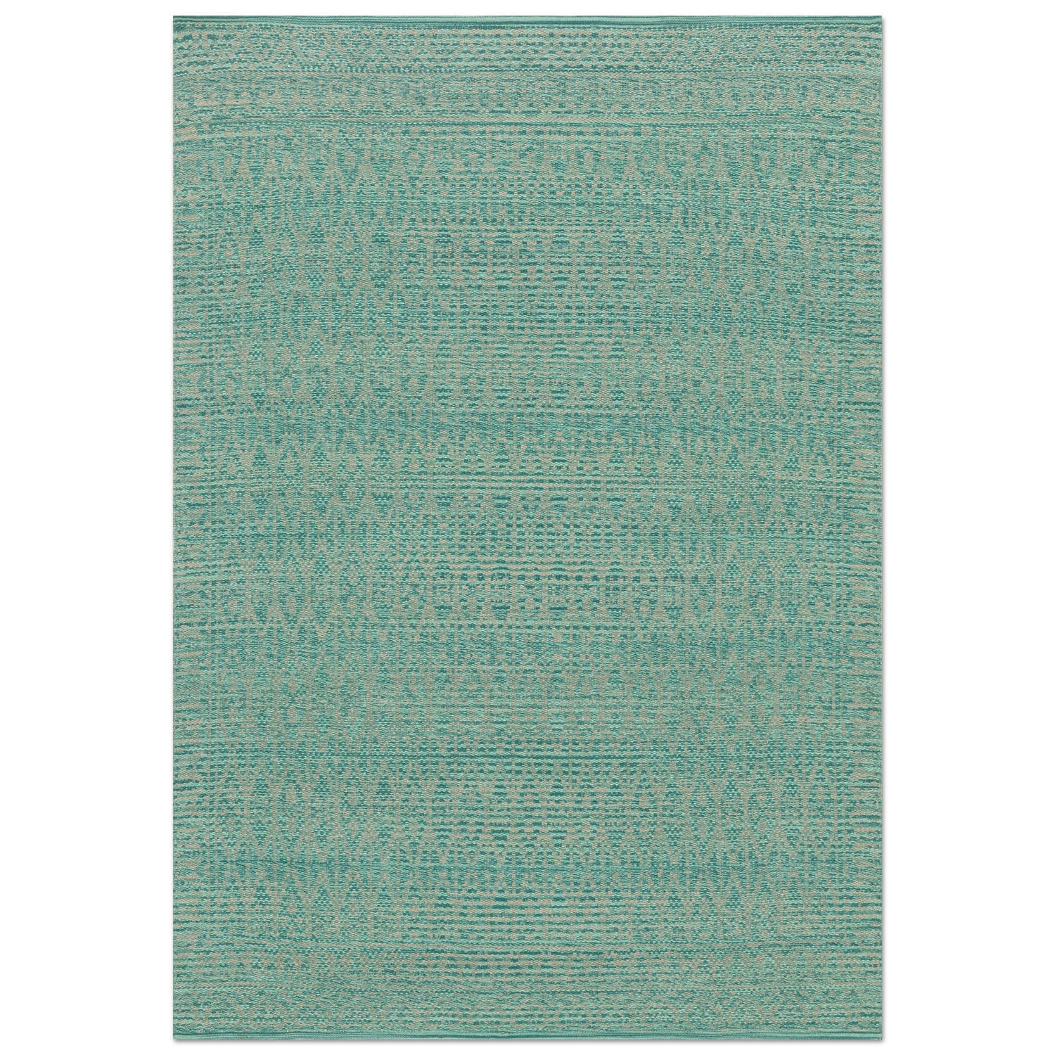 Accent and Occasional Furniture - Emmie Kay 8' x 10' Rug - Turquoise and Dove
