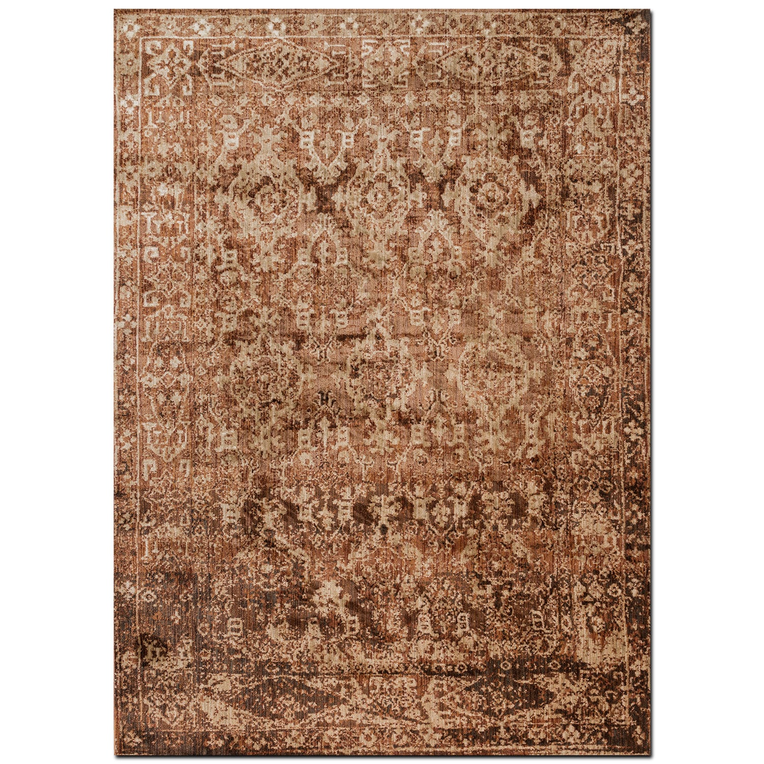Rugs - Kivi 7' x 9' Rug - Sand and Copper