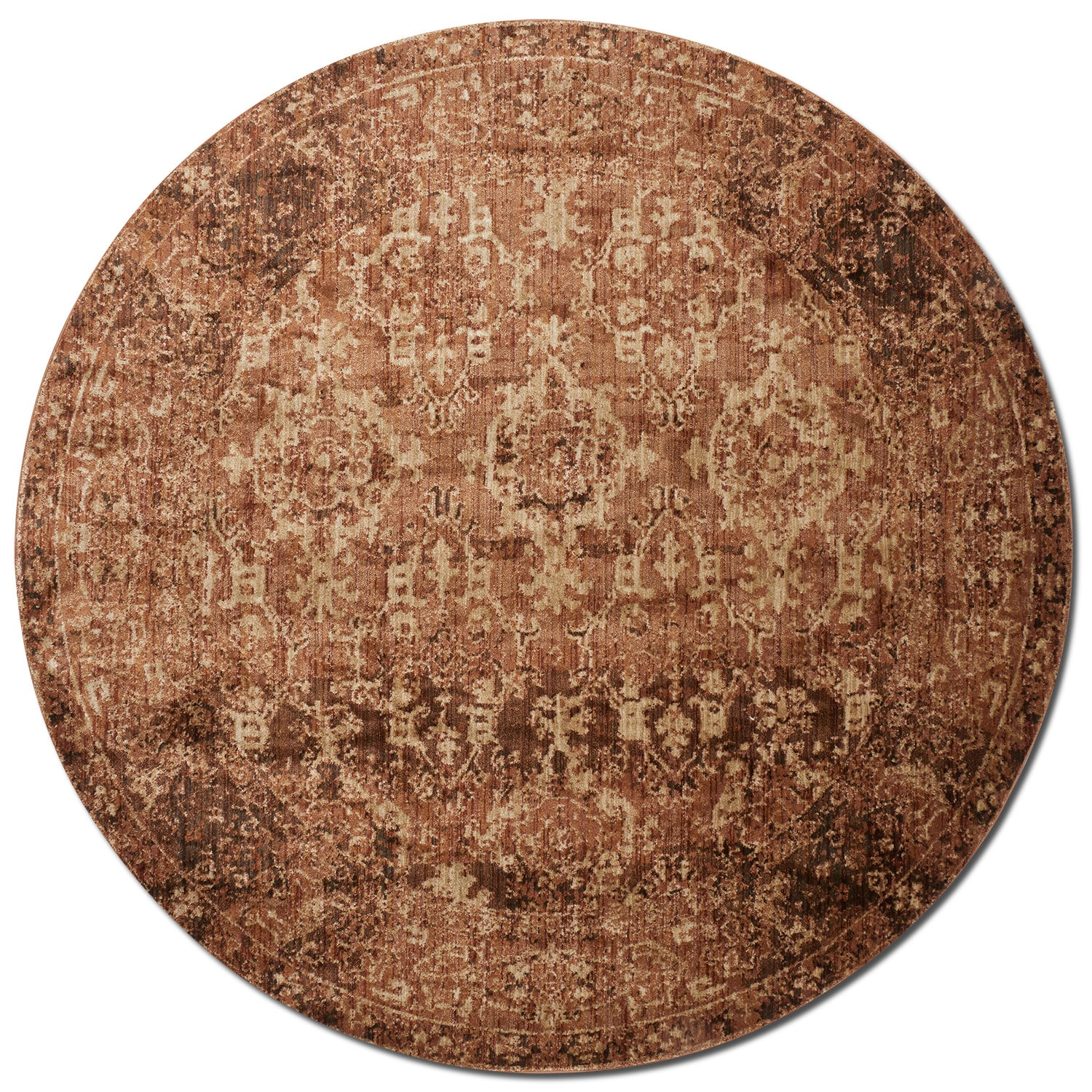 Kivi 5' Round Rug - Sand and Copper