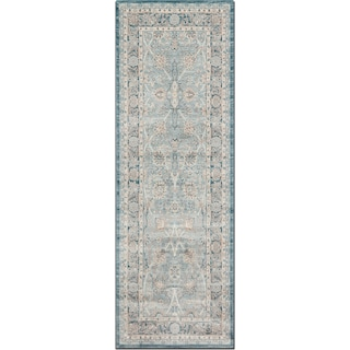 Ella Rose 3' x 8' Rug - Light and Dark Blue