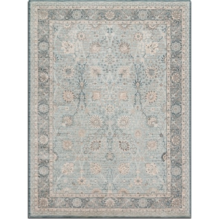 Ella Rose 4' x 6' Rug - Light and Dark Blue