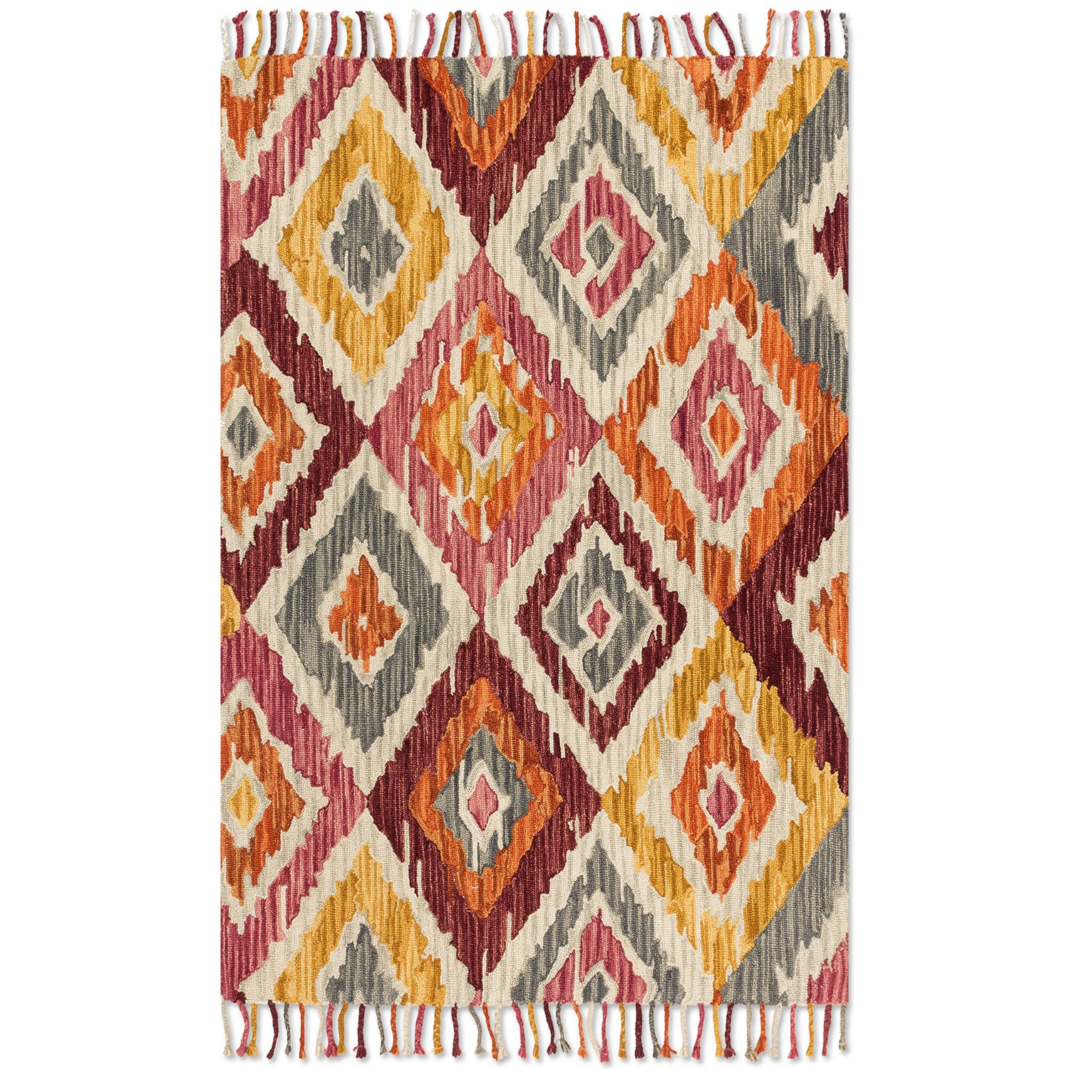Rugs - Brushstroke 5' x 8' Rug - Silver Sunset