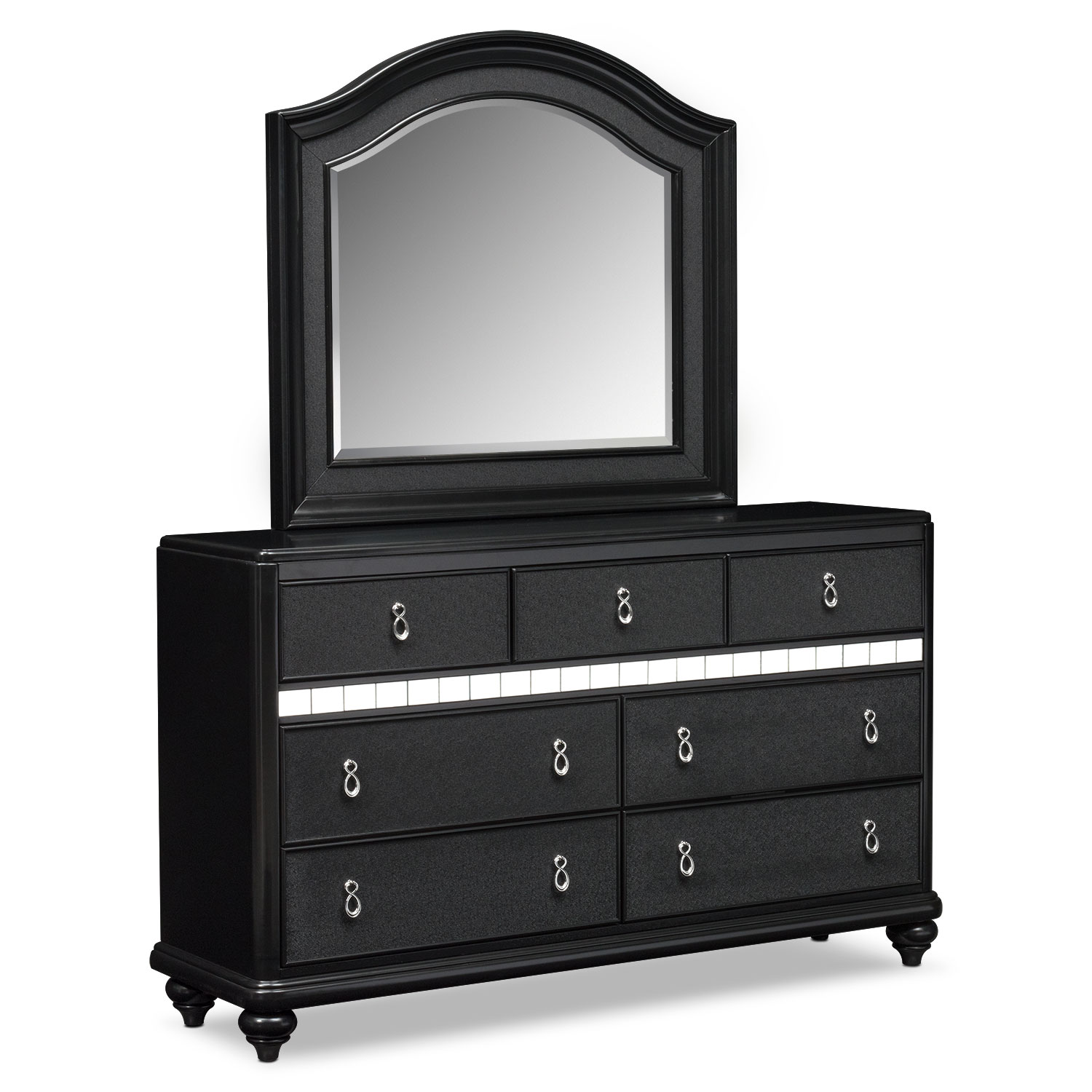 Serena Dresser and Mirror - Onyx
