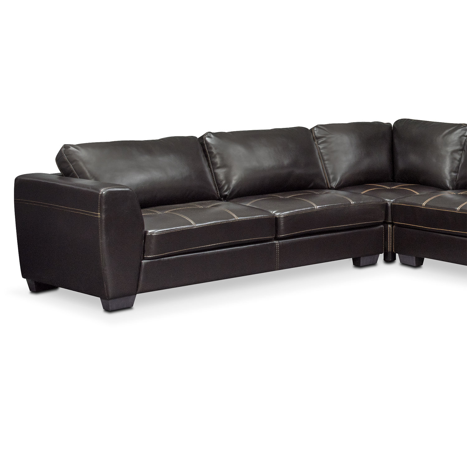 Santana 4 piece sectional with right facing chaise black for 4 piece sectional sofa with chaise