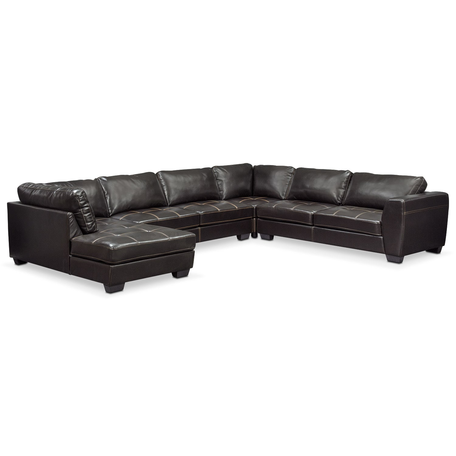 Santana 2 piece sectional with right facing chaise and for Black sectional with chaise