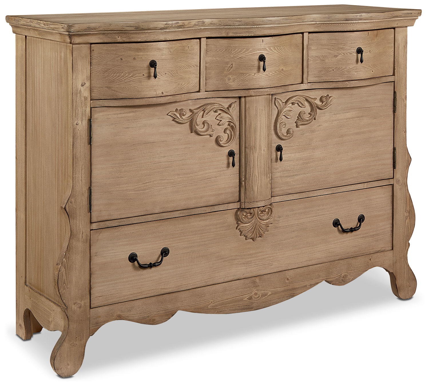 Accent and Occasional Furniture - Golden Era Sideboard Chest - Wheat