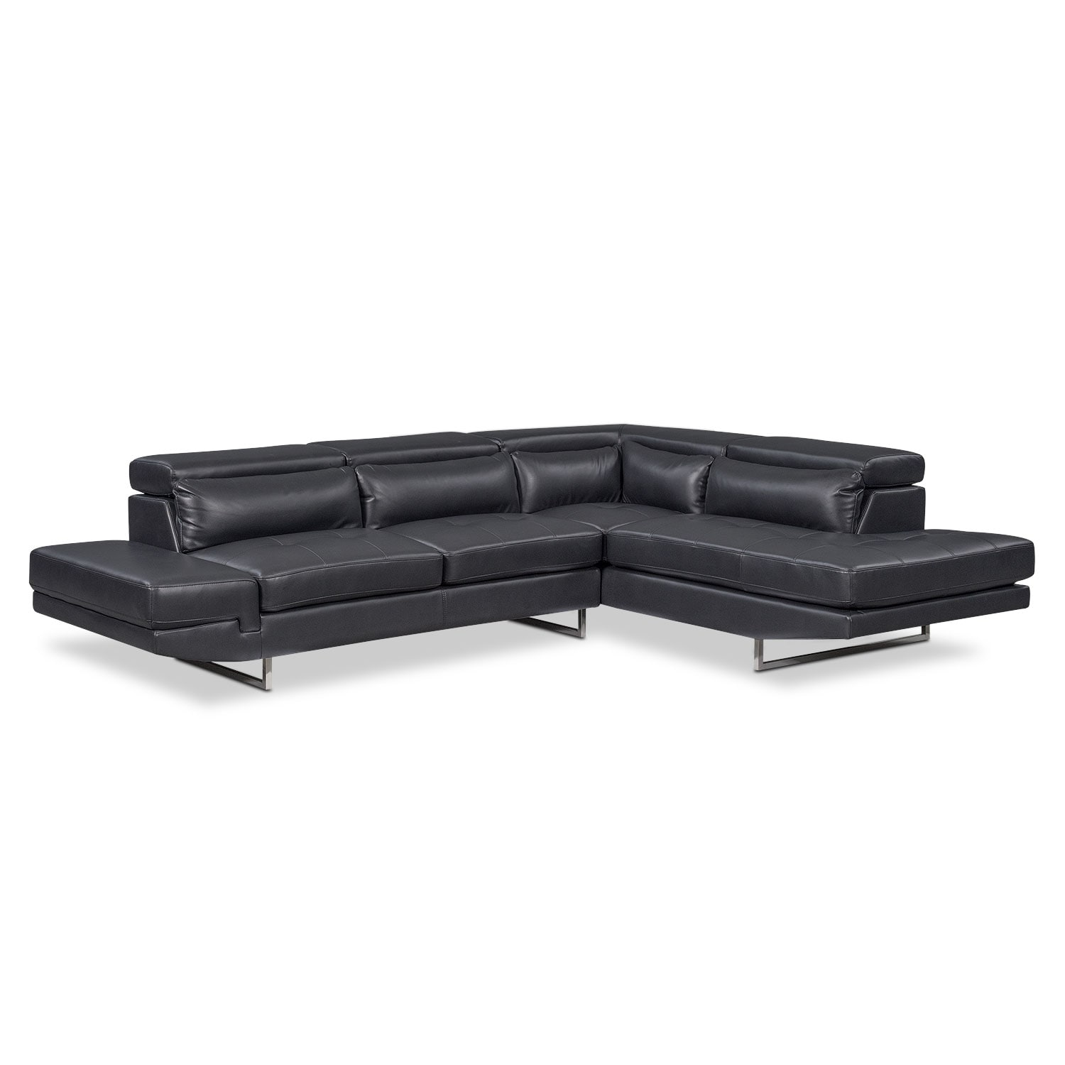Torino 2 piece sectional with right facing chaise for 2 piece sectional sofa with chaise