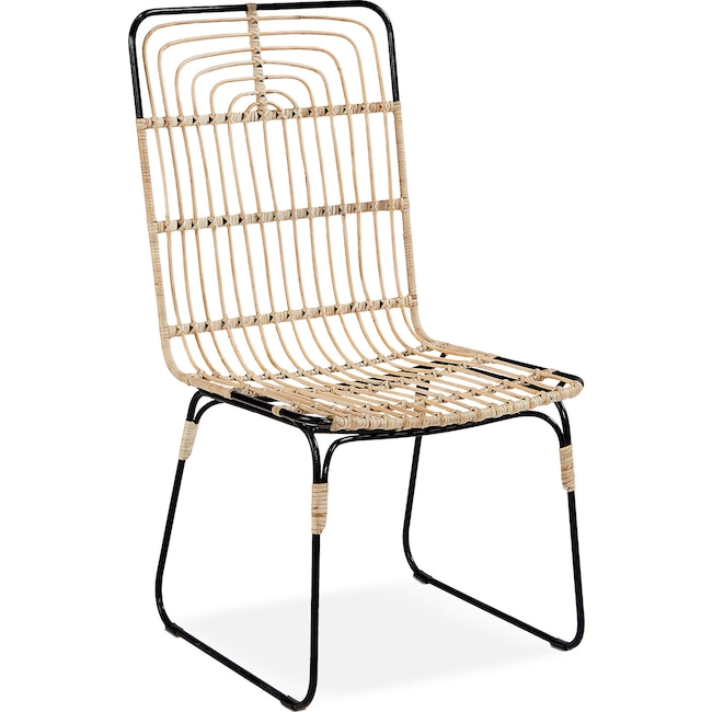 Dining Room Furniture - Set of 2 Entwine Rattan Side Chairs