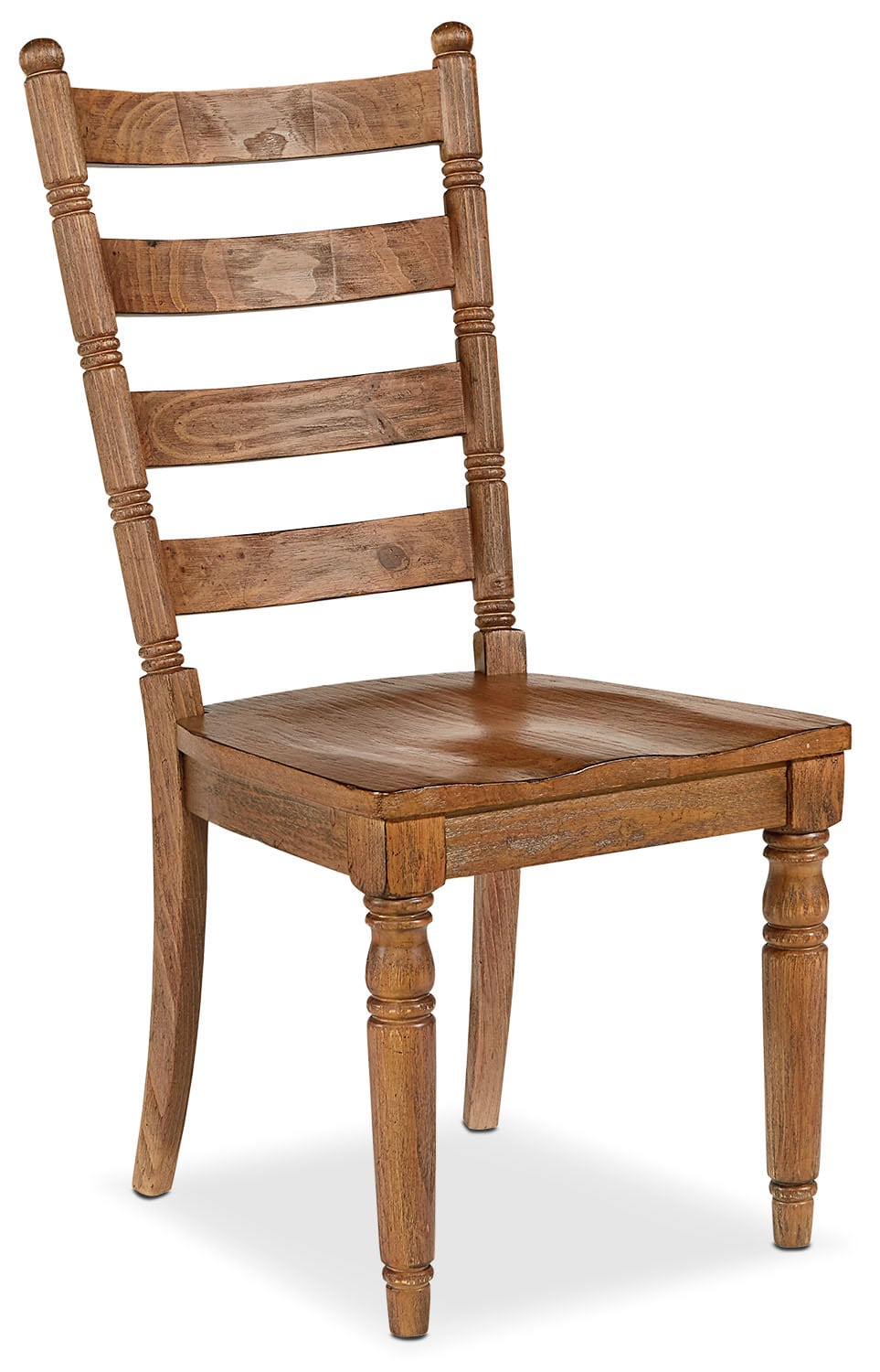 Dining Room Furniture - Primitive Slat Back Side Chair - Bench