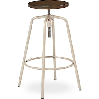 Factory Stool - Antique White