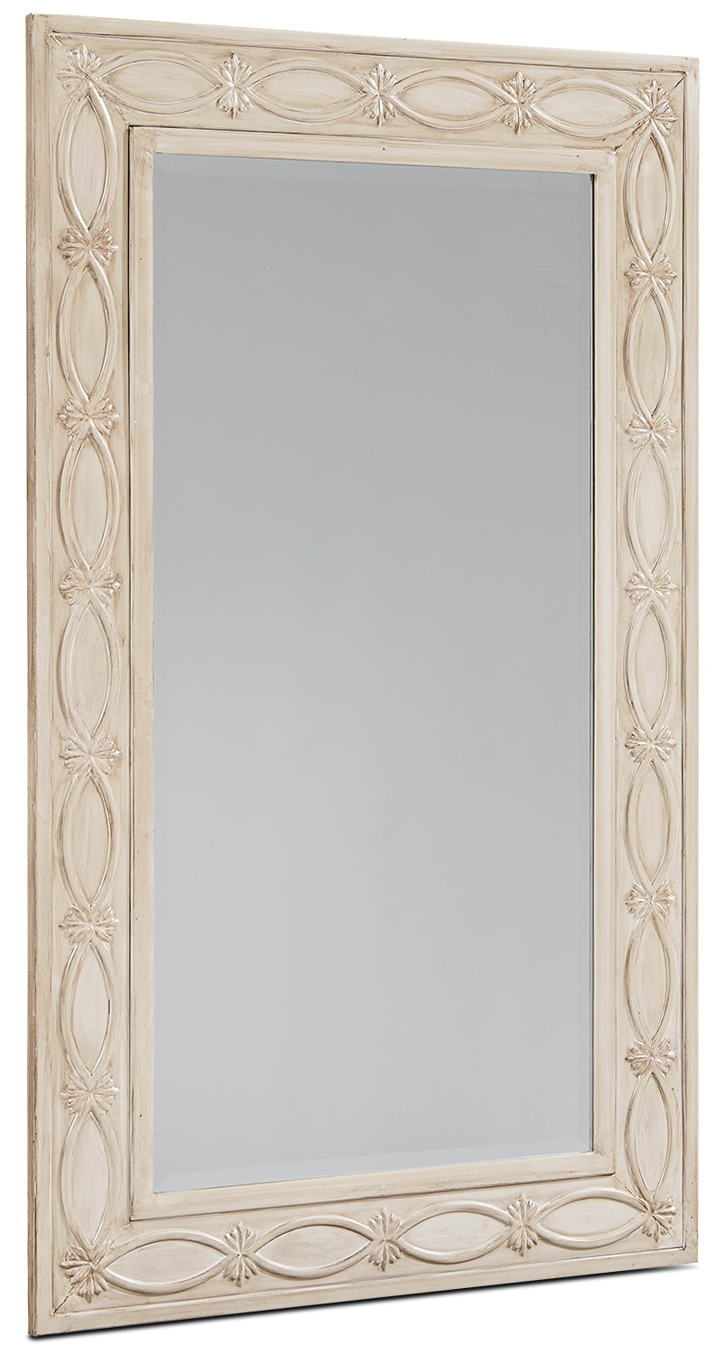 Short Artisan Mirror - Antique White