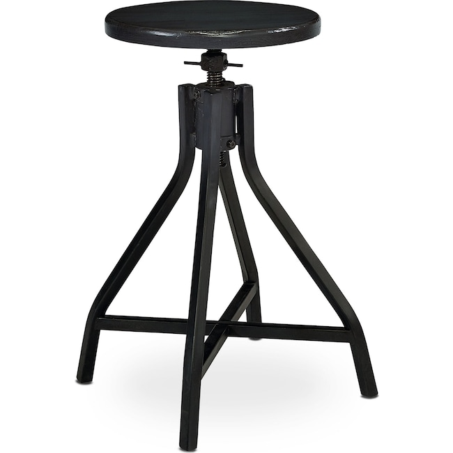 Home Office Furniture - Swivel Stool - Black