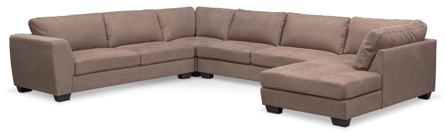 Santana 4-Piece Sectional with Right-Facing Chaise - Taupe
