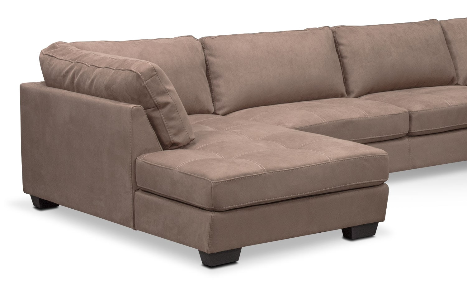 Santana 4 Piece Sectional with Left Facing Chaise Taupe