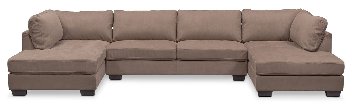 Santana 2 piece sectional with right facing chaise and for Brighton taupe 3 piece chaise and sofa set