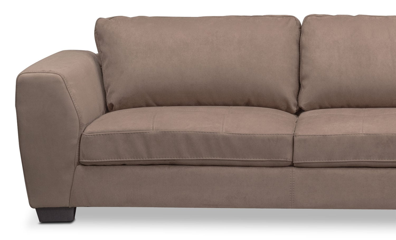 Santana 2 piece sectional with right facing chaise taupe for 2 piece sectionals with chaise