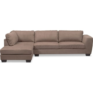 Santana 2-Piece Sectional with Left-Facing Chaise - Taupe