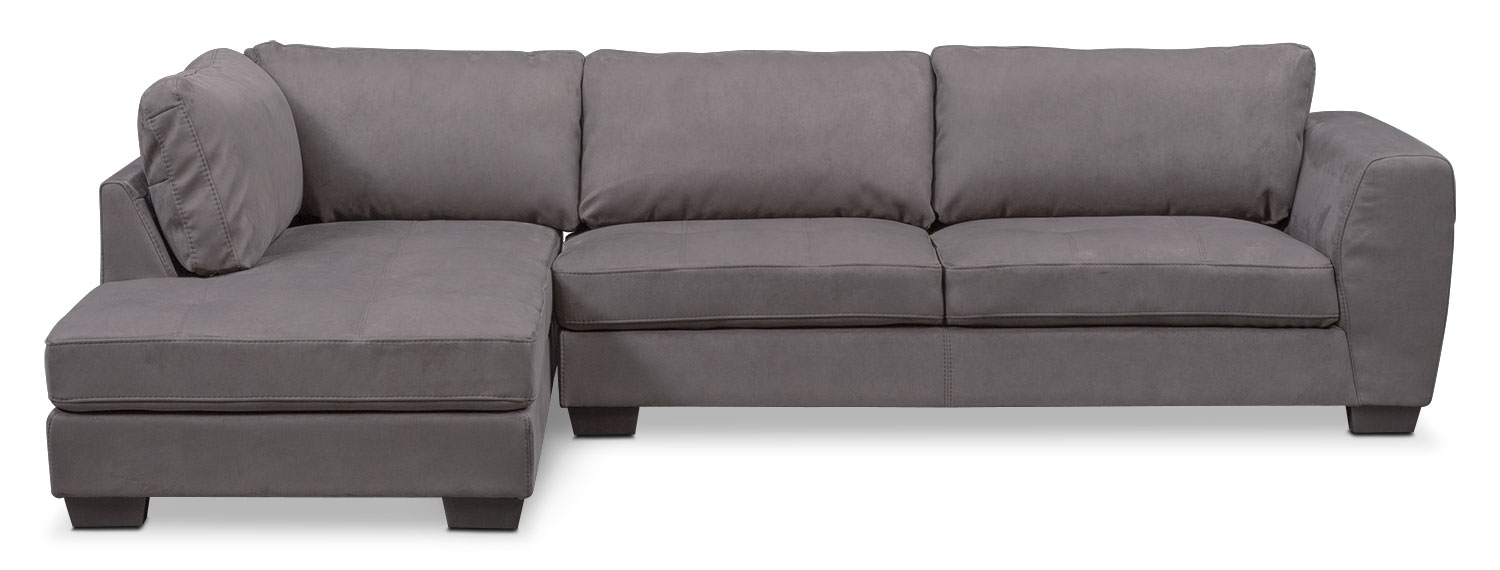 Santana 4 piece sectional with left facing chaise slate for 4 piece sectional sofa with chaise