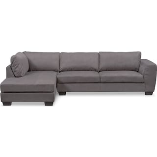 Santana 2-Piece Sectional with Left-Facing Chaise - Slate