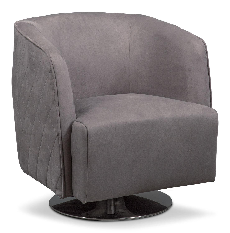 Santana Swivel Chair- Slate
