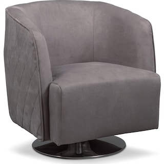 Santana Swivel Chair- Slate