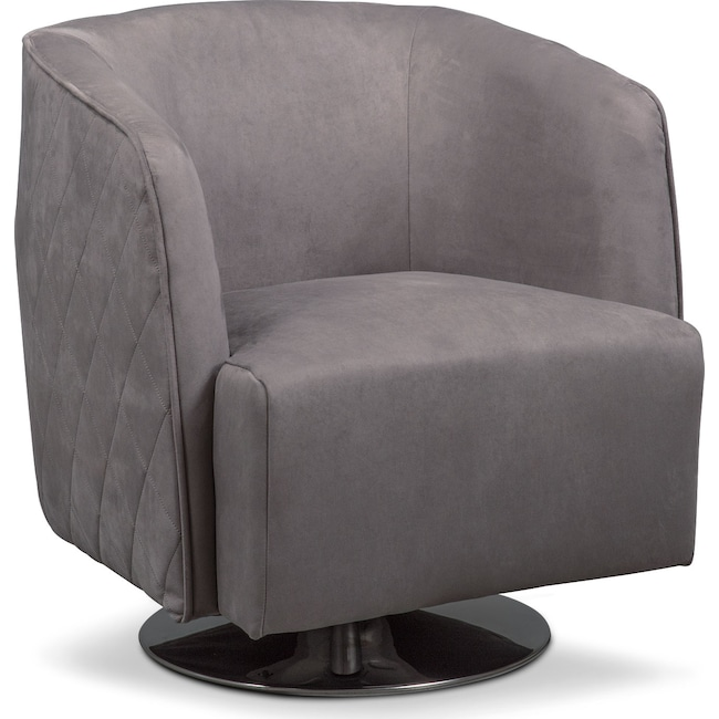 Living Room Furniture - Santana Swivel Chair- Slate