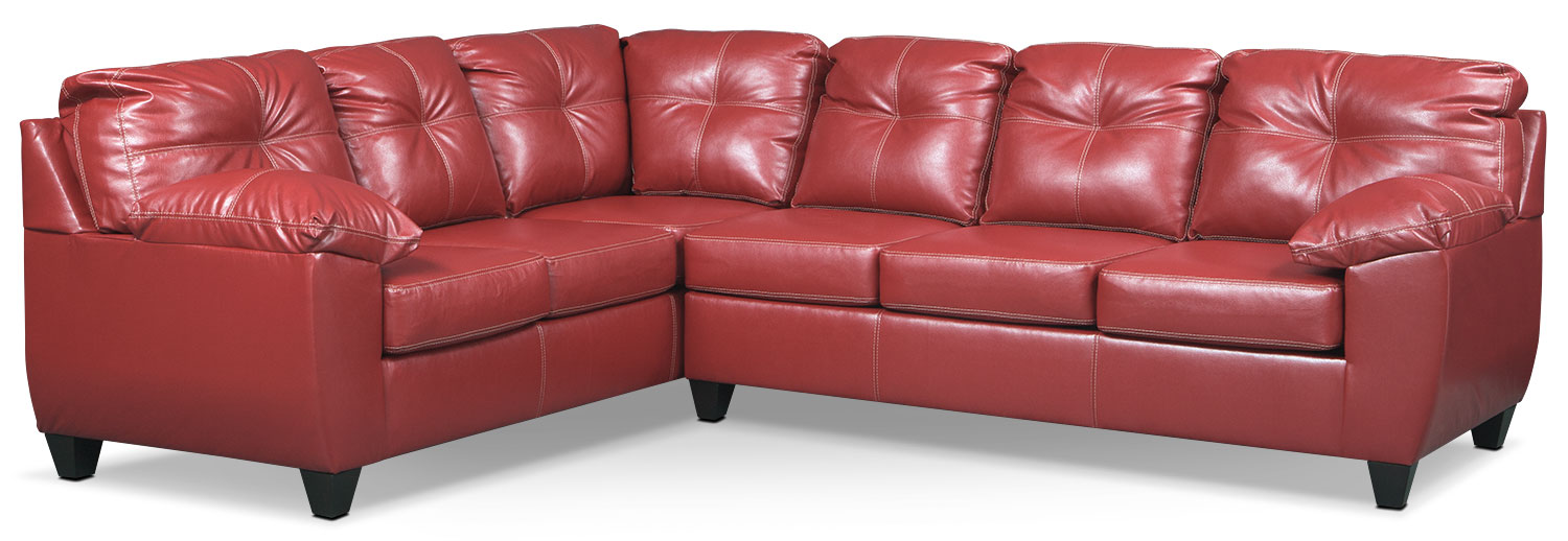Rialto 2-Piece Sectional with Right-Facing Corner Sofa - Cardinal