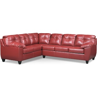 Ricardo 2-Piece Sectional with Left-Facing Sofa - Cardinal