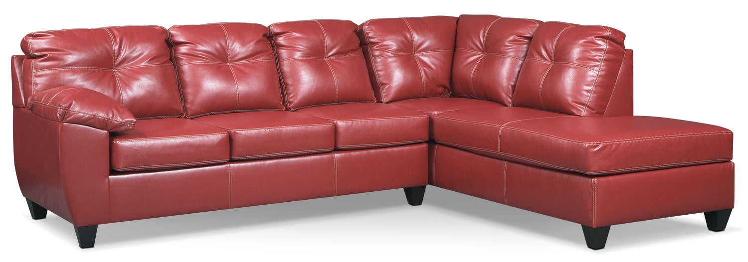 Rialto 2-Piece Sectional with Right-Facing Chaise - Cardinal