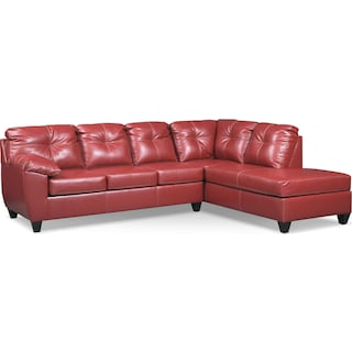 Ricardo 2-Piece Sectional with Right-Facing Chaise - Cardinal