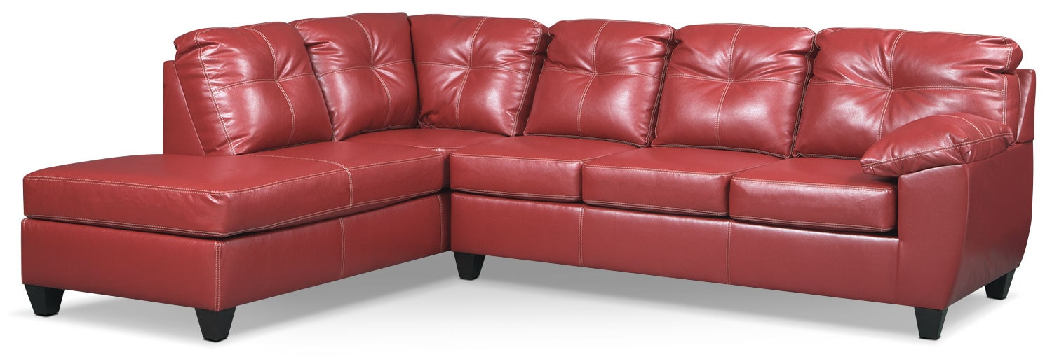 Rialto 2-Piece Sectional with Left-Facing Chaise - Cardinal
