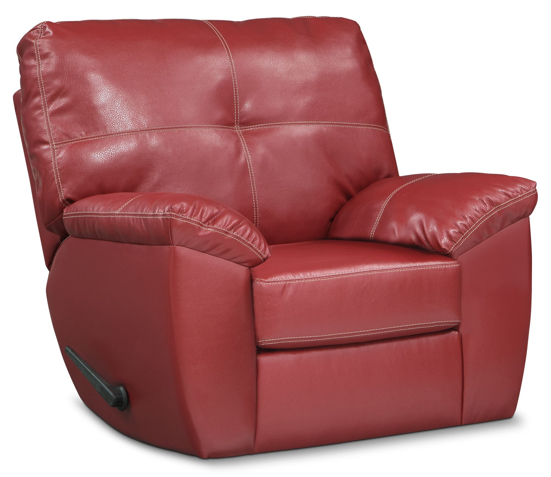 Living Room Furniture - Rialto Glider Recliner - Cardinal
