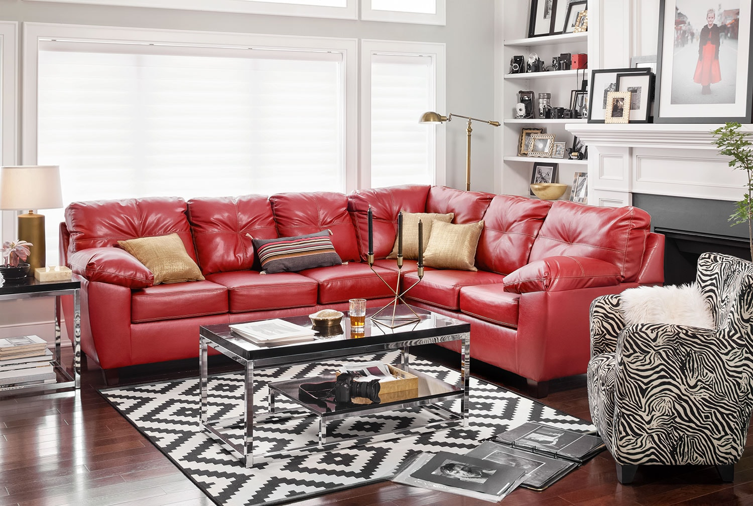 Superior The Ricardo Sectional Collection   Cardinal