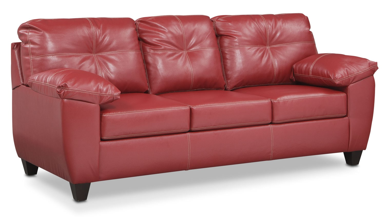 Living Room Furniture - Rialto Queen Innerspring Sleeper - Cardinal