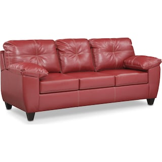 Ricardo Queen Innerspring Sleeper Sofa - Cardinal