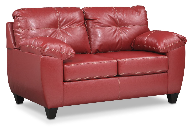 Living Room Furniture - Rialto Loveseat - Cardinal