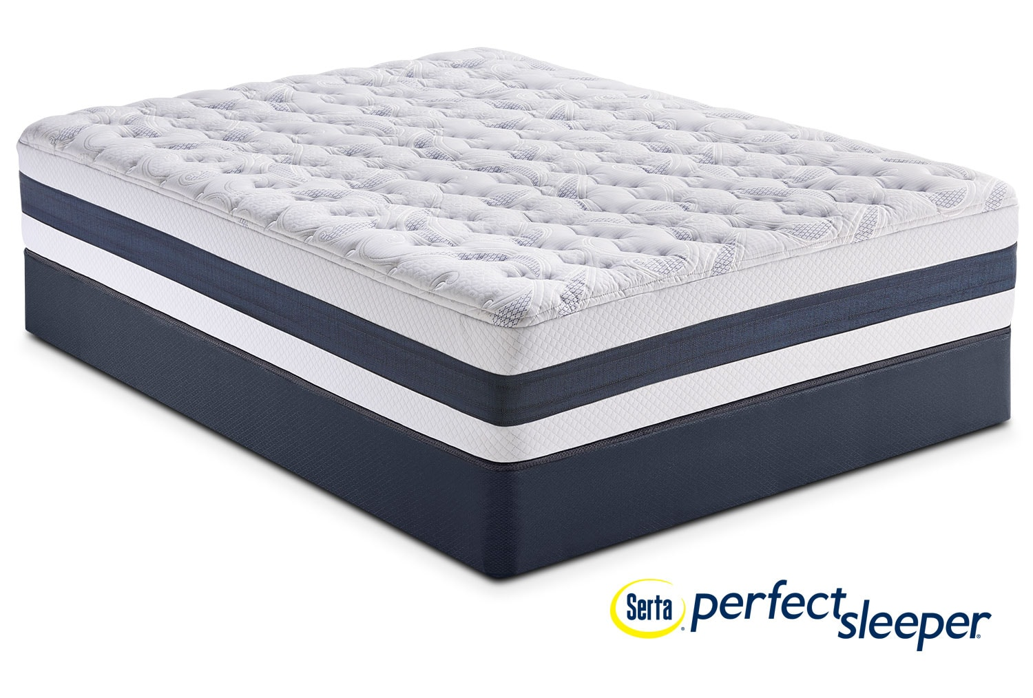 Mattresses and Bedding - Carson Ridge Queen Mattress and Low-Profile Foundation Set