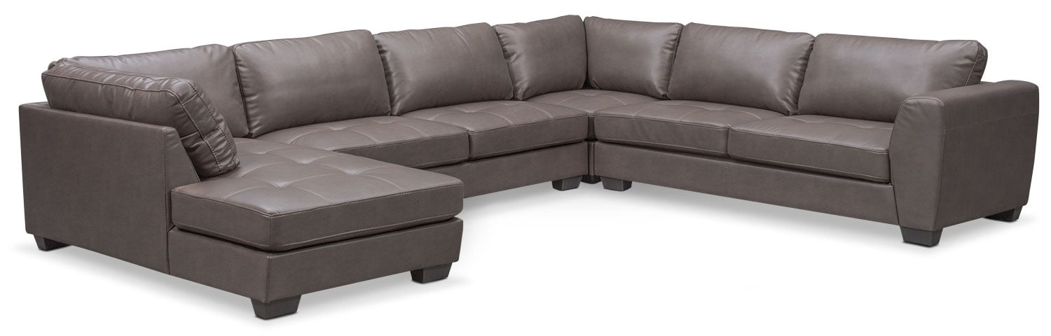 Santana 4-Piece Sectional with Left-Facing Chaise - Gray