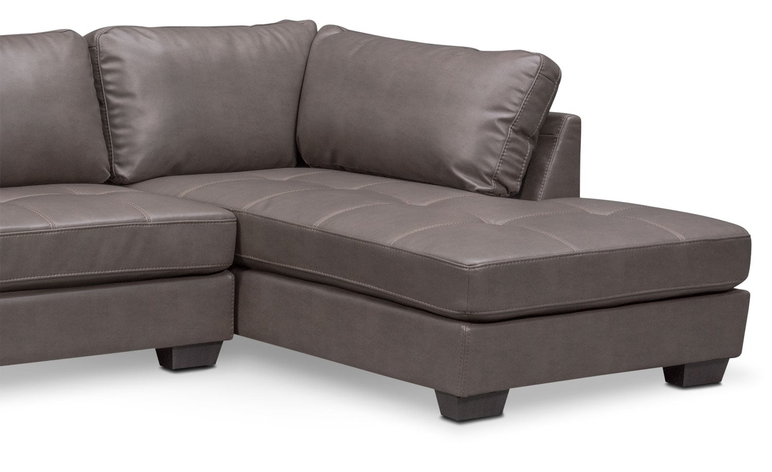 Santana 2 piece sectional with right facing chaise gray for 2 piece sectionals with chaise
